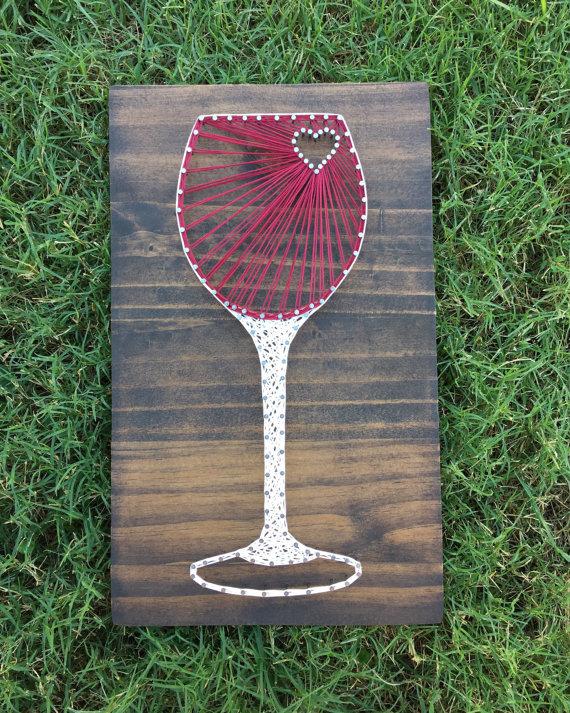 Wine Glass String Art from Kails String Art
