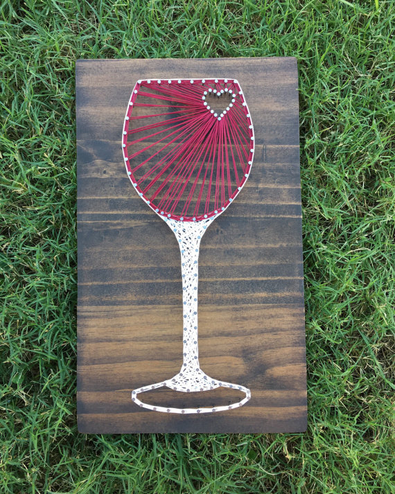 Wine Glass String Art from Kails String Art