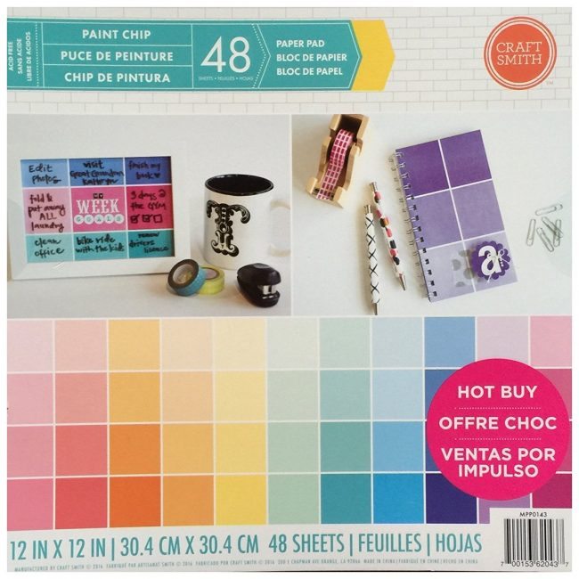 Craft Smith Paint Chip Scrapbook Paper Pad