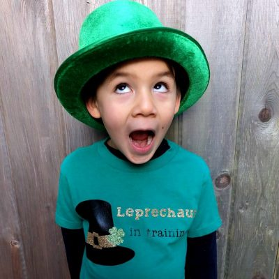DIY St. Patricks Day Shirt- Leprechaun In Training