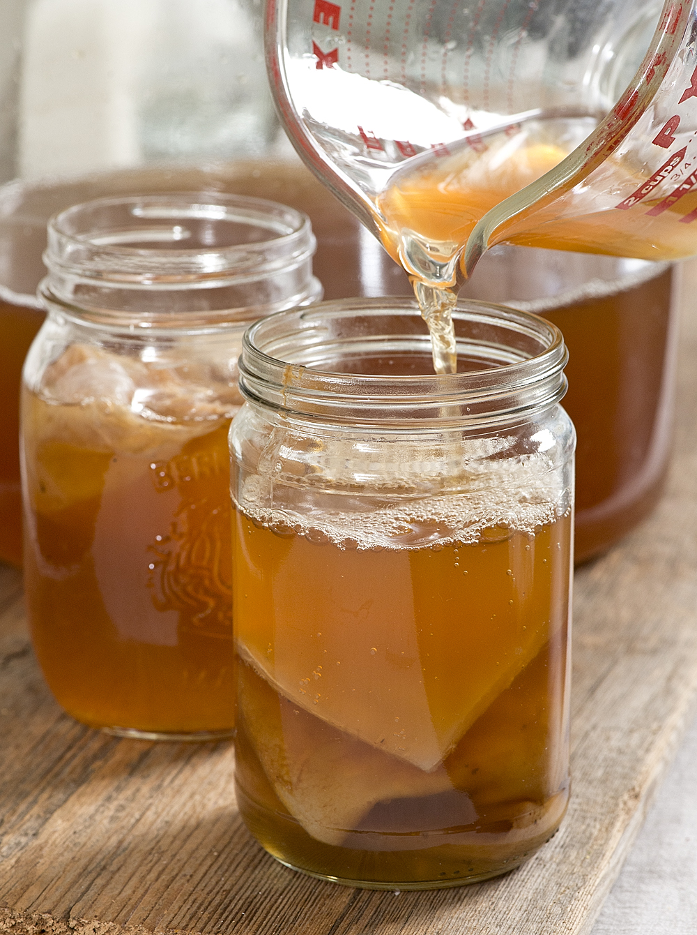 Skip the store bought and brew your own kombucha right at home with these Easy Kombucha instructions for perfect tea every time. The step by step instructions with photos make it easy!