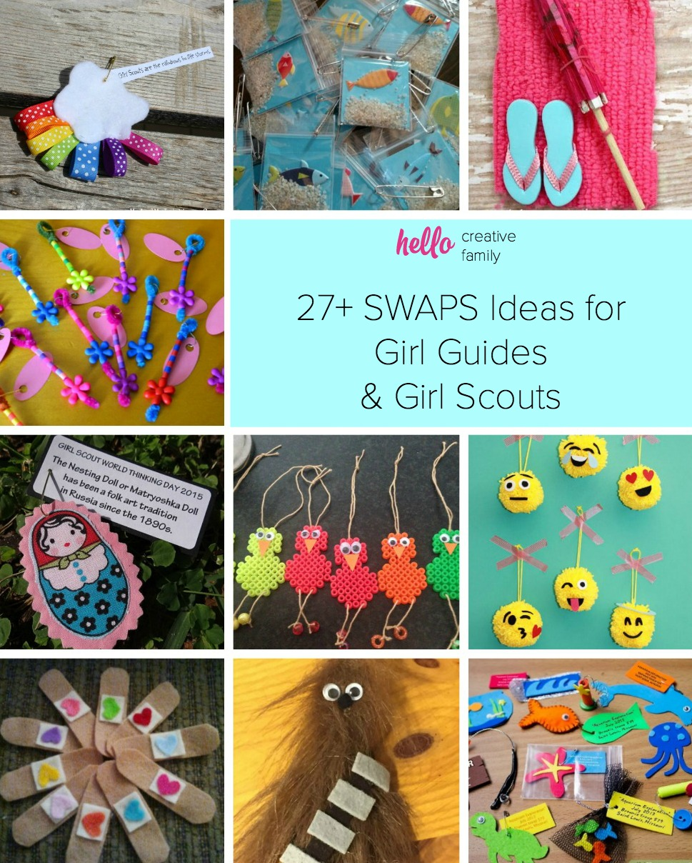 Looking for some inspiration for Girl Guide and Girl Scout SWAPS? Check out these 27+ easy and adorable SWAPS ideas and projects that kids can craft!