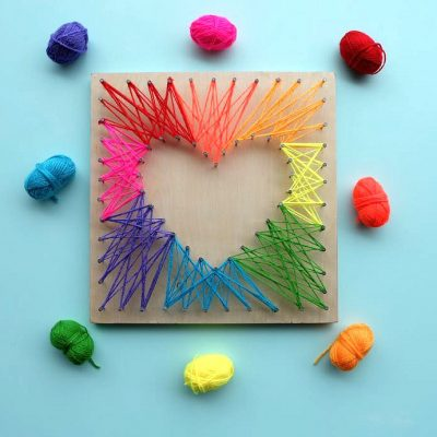 Hello Creative Family Girlfriend's Craft Night: DIY String Art Projects