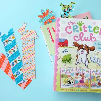 10 Minute Craft Project- DIY Animal Shaped Washi Tape Bookmarks