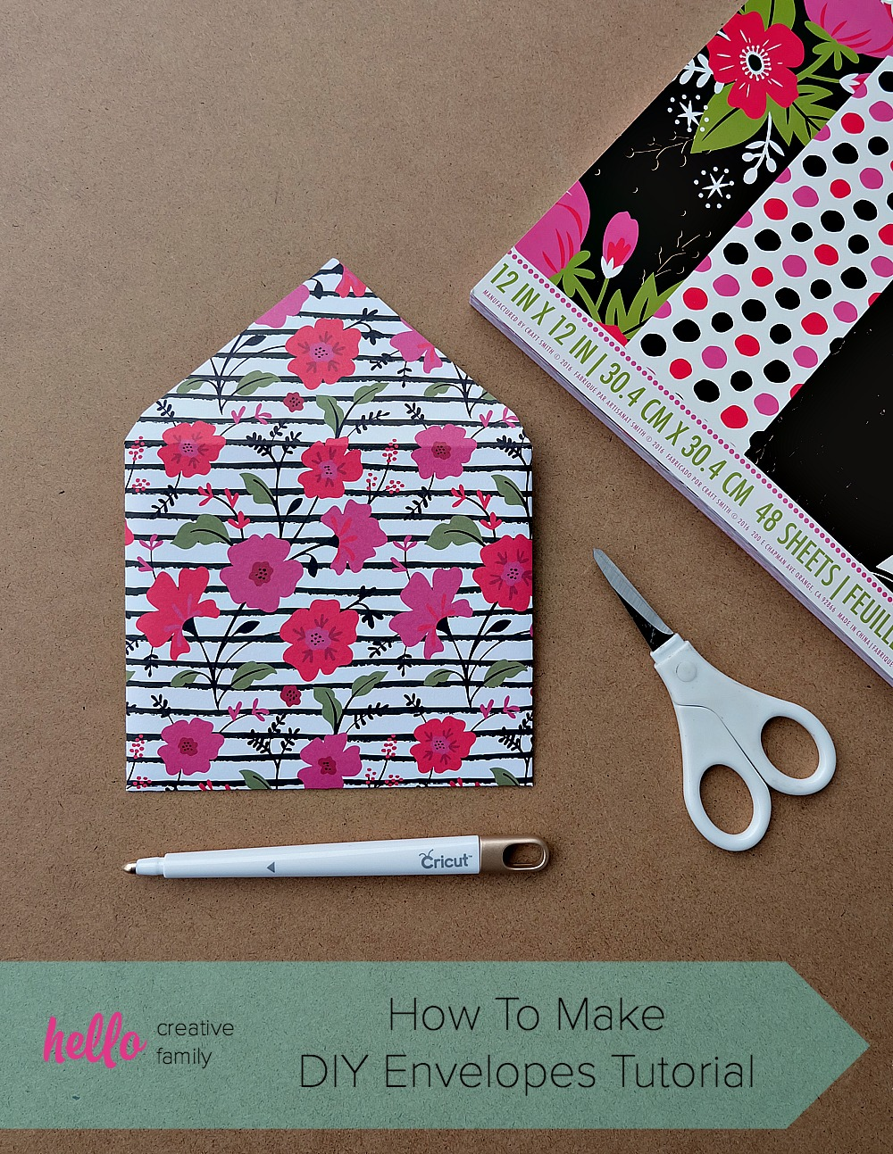 You'll want to hang onto old Christmas and Birthday card envelopes after reading this post! Upcycle old envelopes into envelope templates! Learn How To Make DIY Envelopes using scrapbooking paper and cardstock with this easy tutorial!