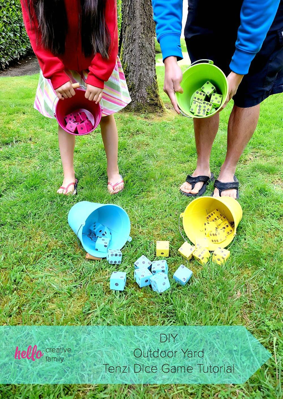 diy tenzi outdoor yard dice game tutorial hello creative family