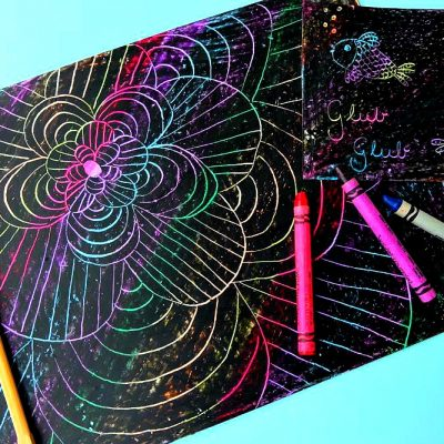 DIY Crayon Etching Tutorial + MomResourceCa Twitter Party with $500+ In Prizes