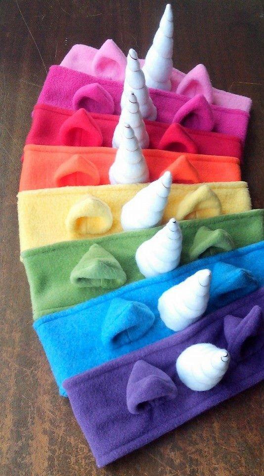 75+ Magically Inspiring Unicorn Crafts, DIYs, Foods and Gift Ideas: Fleece Unicorn Headband
