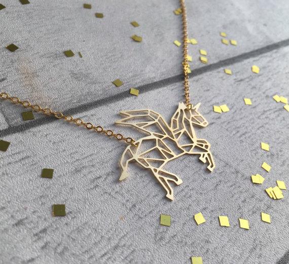 75+ Magically Inspiring Unicorn Crafts, DIYs, Foods and Gift Ideas: Flying Unicorn Necklace