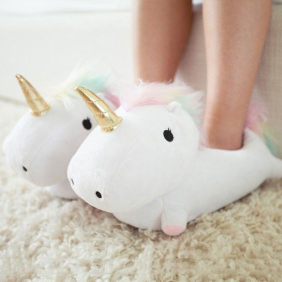 75+ Magically Inspiring Unicorn Crafts, DIYs, Foods and Gift Ideas: Light Up Unicorn Slippers