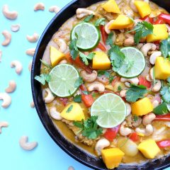 Mango Cashew Turkey Curry Recipe- 30 Minute Healthy Meal Idea