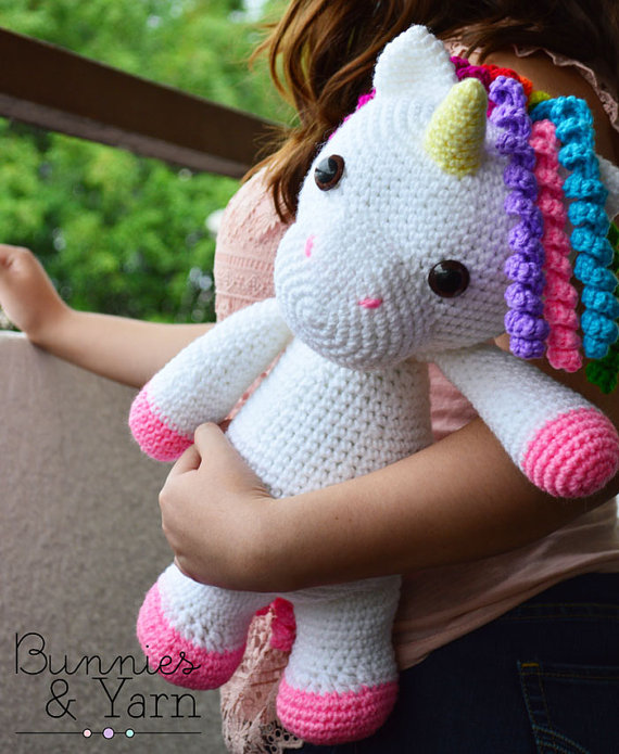 75+ Magically Inspiring Unicorn Crafts, DIYs, Foods and Gift Ideas: Mimi The Unicorn Crochet Pattern from Bunnies and Yarn
