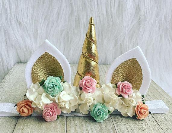 75+ Magically Inspiring Unicorn Crafts, DIYs, Foods and Gift Ideas: Pastel Unicorn Headband