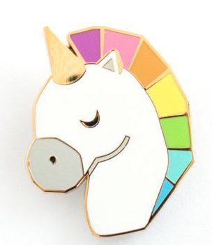 75+ Magically Inspiring Unicorn Crafts, DIYs, Foods and Gift Ideas: Rainbow Unicorn Geometric Brooch