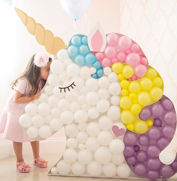 75+ Magically Inspiring Unicorn Crafts, DIYs, Foods and Gift Ideas: Unicorn Birthday Party Backdrop
