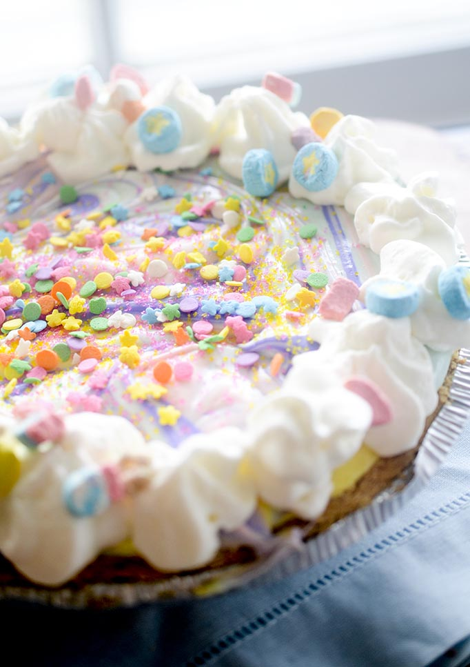 75+ Magically Inspiring Unicorn Crafts, DIYs, Foods and Gift Ideas: Unicorn Cheesecake from Recipe Diaries