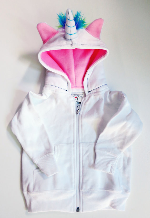 75+ Magically Inspiring Unicorn Crafts, DIYs, Foods and Gift Ideas: Unicorn Hoodie