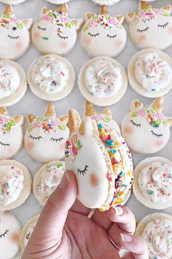 75+ Magically Inspiring Unicorn Crafts, DIYs, Foods and Gift Ideas: Unicorn Macaroons from Mac Lab Bakery