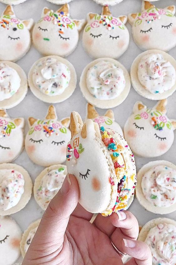 75+ Magically Inspiring Unicorn Crafts, DIYs, Foods and Gift Ideas: Unicorn Macaroons from Mac Lab Bakery
