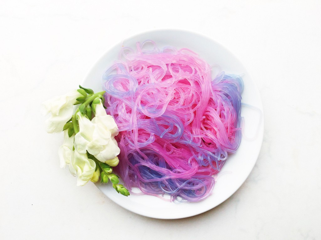 75+ Magically Inspiring Unicorn Crafts, DIYs, Foods and Gift Ideas: Unicorn Noodles from The Indigo Kitchen