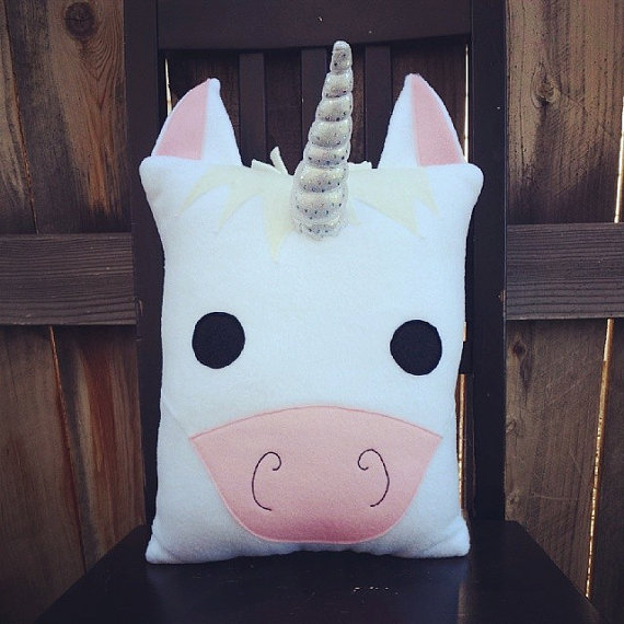75+ Magically Inspiring Unicorn Crafts, DIYs, Foods and Gift Ideas: Unicorn Plush Pillow