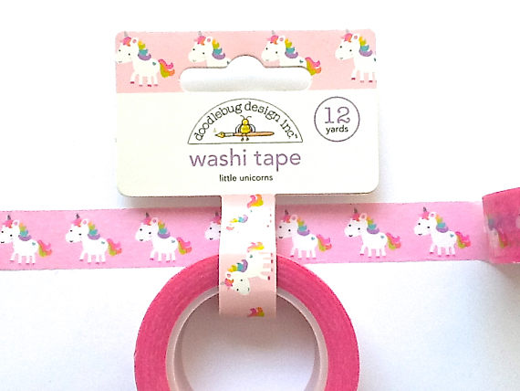75+ Magically Inspiring Unicorn Crafts, DIYs, Foods and Gift Ideas: Unicorn Washi Tape
