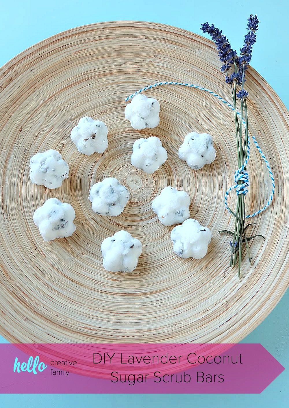 Making DIY body products at home is so much fun. Here is an easy project to get you started! These DIY Coconut Lavender Sugar Scrub Bars use shea butter melt and pour soap as their base. Perfect for exfoliating in the shower, or to use on feet and hands before a pedicure or manicure! Super simple to make and a fabulous handmade gift idea!