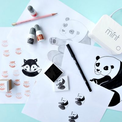 Turn your doodles drawings into rubber stamps with the Silhouette Mint! This tutorial shares step by step photos and shares how easy it is to make a custom stamp! A fun craft for kids and adults alike! Perfect for party decorations and invitations, weddings, stamping wrapping paper, for use in Happy Planners and more!