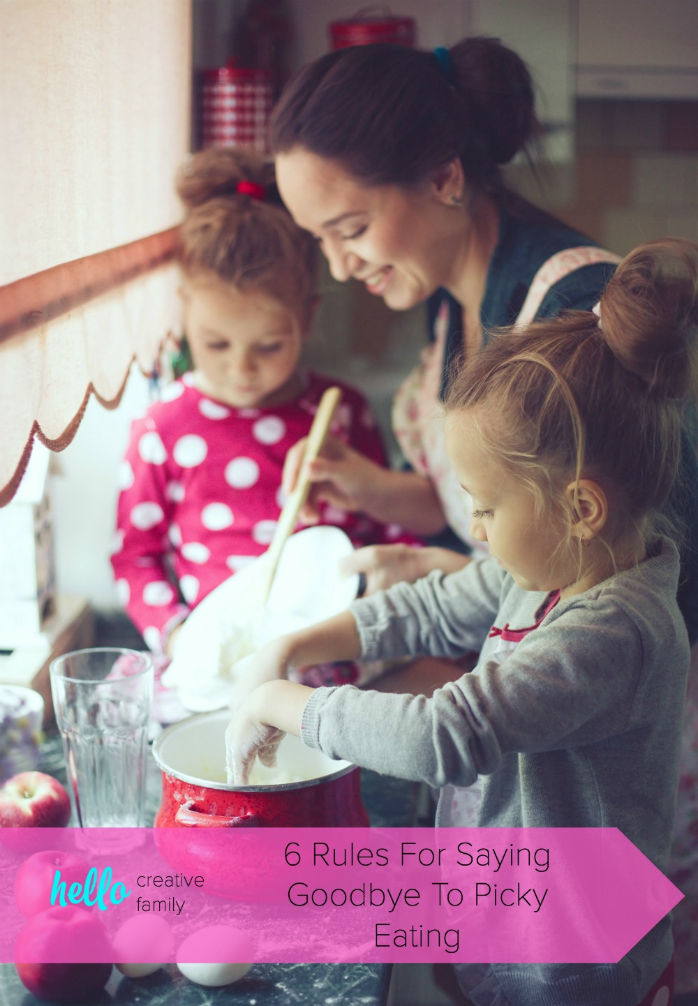 Picky eating can be such a frustrating parenting challenge. Conquer the challenge with these 6 Rules For Saying Goodbye to Picky Eating! Get your kids eating healthy foods that they'll love that will nourish their body! We're not saying it will be easy, but it will definitely be worth it!