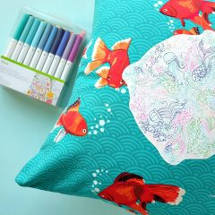 DIY Rainbow Under The Sea Pillow Drawn and Cut with the Cricut
