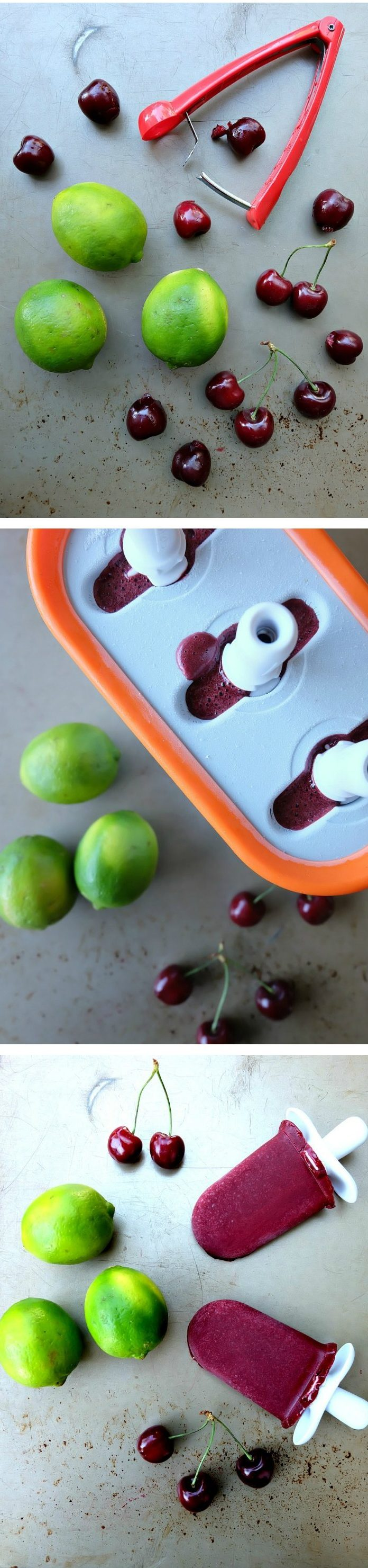 Ice pops are one of my favorite things about summer and this Cherry Coconut Lime Popsicles Recipe does not disappoint! With no added sugar, this recipe is a healthy treat, but it also has an extra special ingredient that ups the health quota! Easy to make, refreshing and a recipe kids and adults will love!