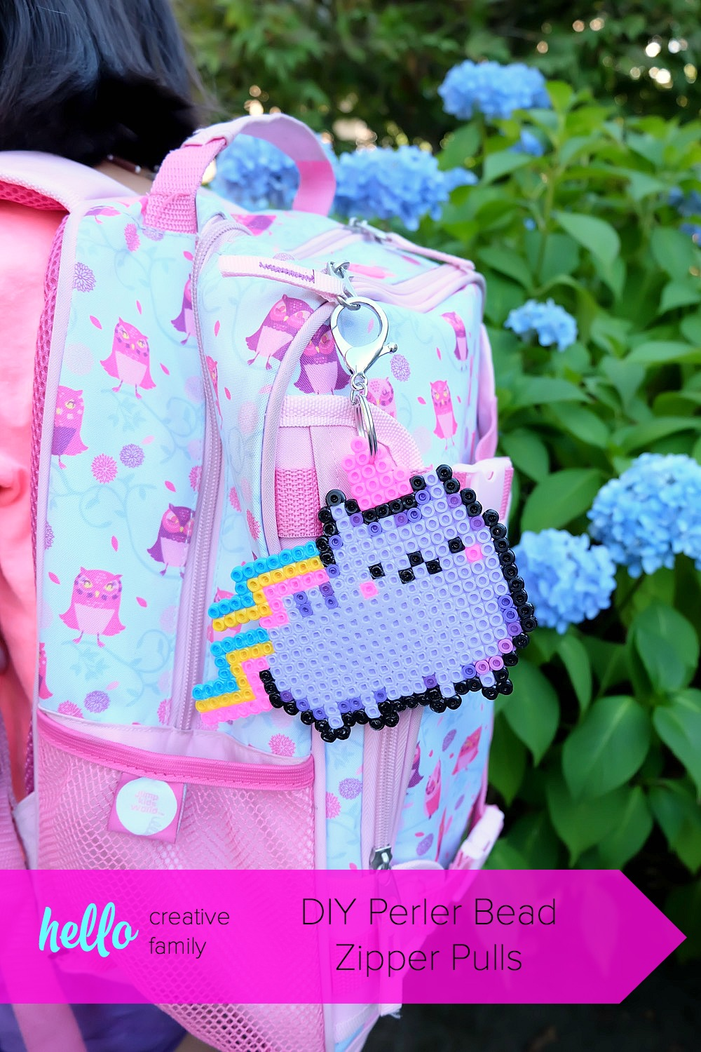 Bling out your kids backpack with this fun, creative, craft project! Make DIY Perler Bead Zipper Pulls that are perfect for back to school fashion accessories! A fun kids craft using hama beads!