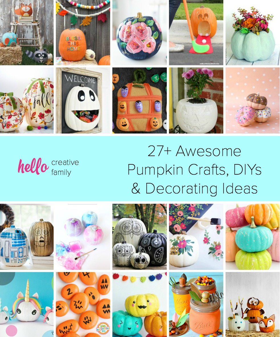 27 Awesome Pumpkin Crafts Diys And Decorating Ideas