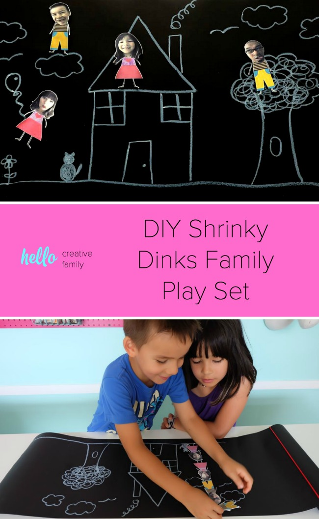 Turn family photos into a hilarious DIY Shrinky Dinks Family Play Set with this fun tutorial. This easy project is fun for kids and would make a hilarious handmade gift idea!