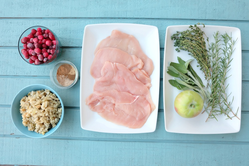This delicious apple cranberry stuffed turkey breast recipe is perfect for a Thanksgiving meal or for a weeknight dinner! Ready in 45 minutes or less, this is a fabulous Thanksgiving dinner for two, four or more! Great for small family festivities! Recipe development #sponsored by Canadian Turkey.