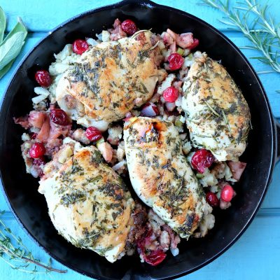 Apple Cranberry Stuffed Turkey Breast Recipe