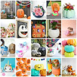 Ready to get into the autumn and Halloween decorating spirit? We've got 27 bright, colorful and fun pumpkin crafts, DIYs and decorating ideas! From painted pumpkin ideas to kids activities, we've got your family covered with these creative ideas!