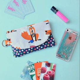 Looking for a cute little clutch to carry all your essentials? Check out this Essential Wallet Sewing Tutorial made using the Cricut Maker! This sweet little bag would make an adorable handmade gift! Perfect for teens and tweens. This project is #sponsored by Cricut.