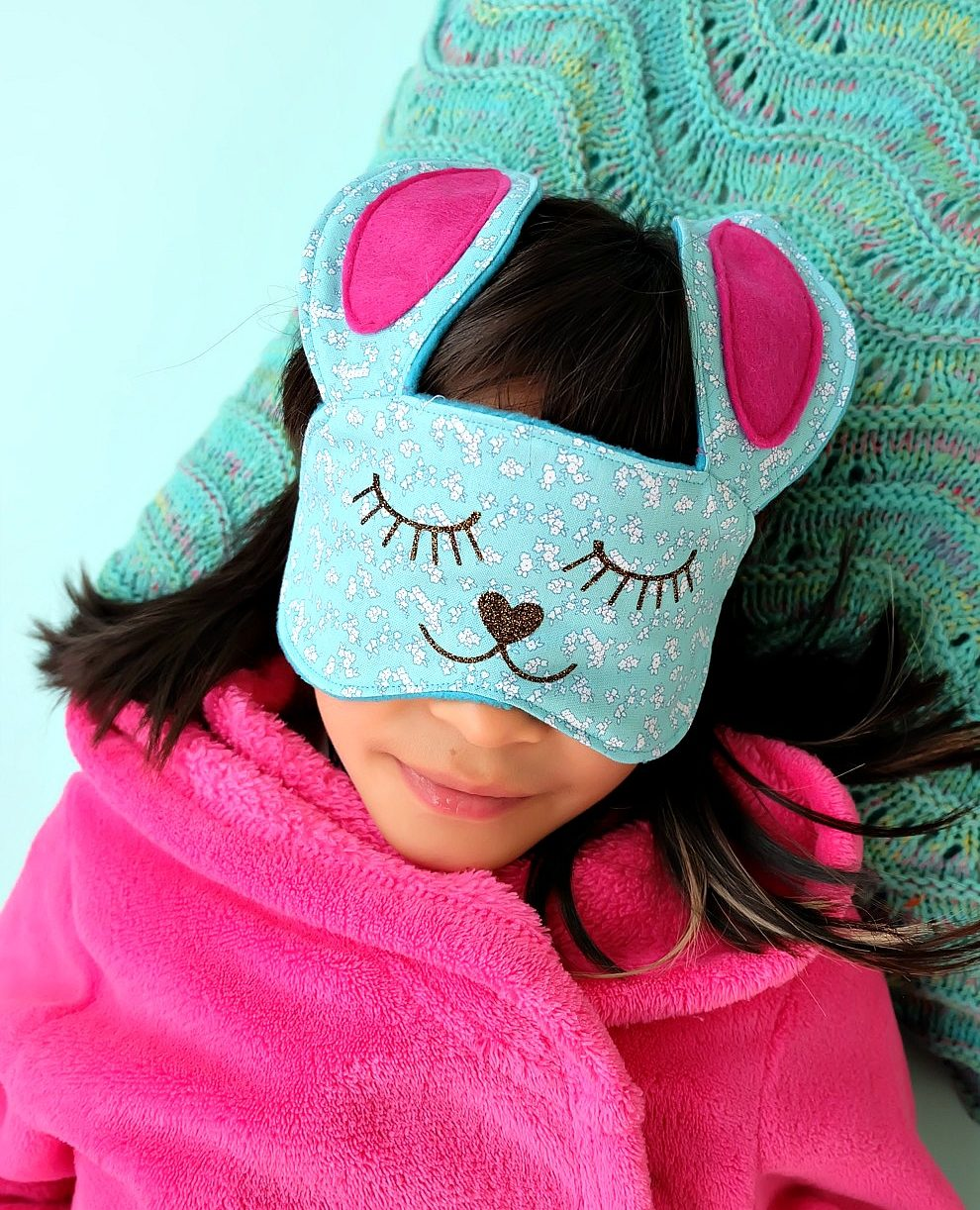 50 Easy Handmade Gift Ideas You'll Love: Bunny Sleep Mask Sewing Tutorial