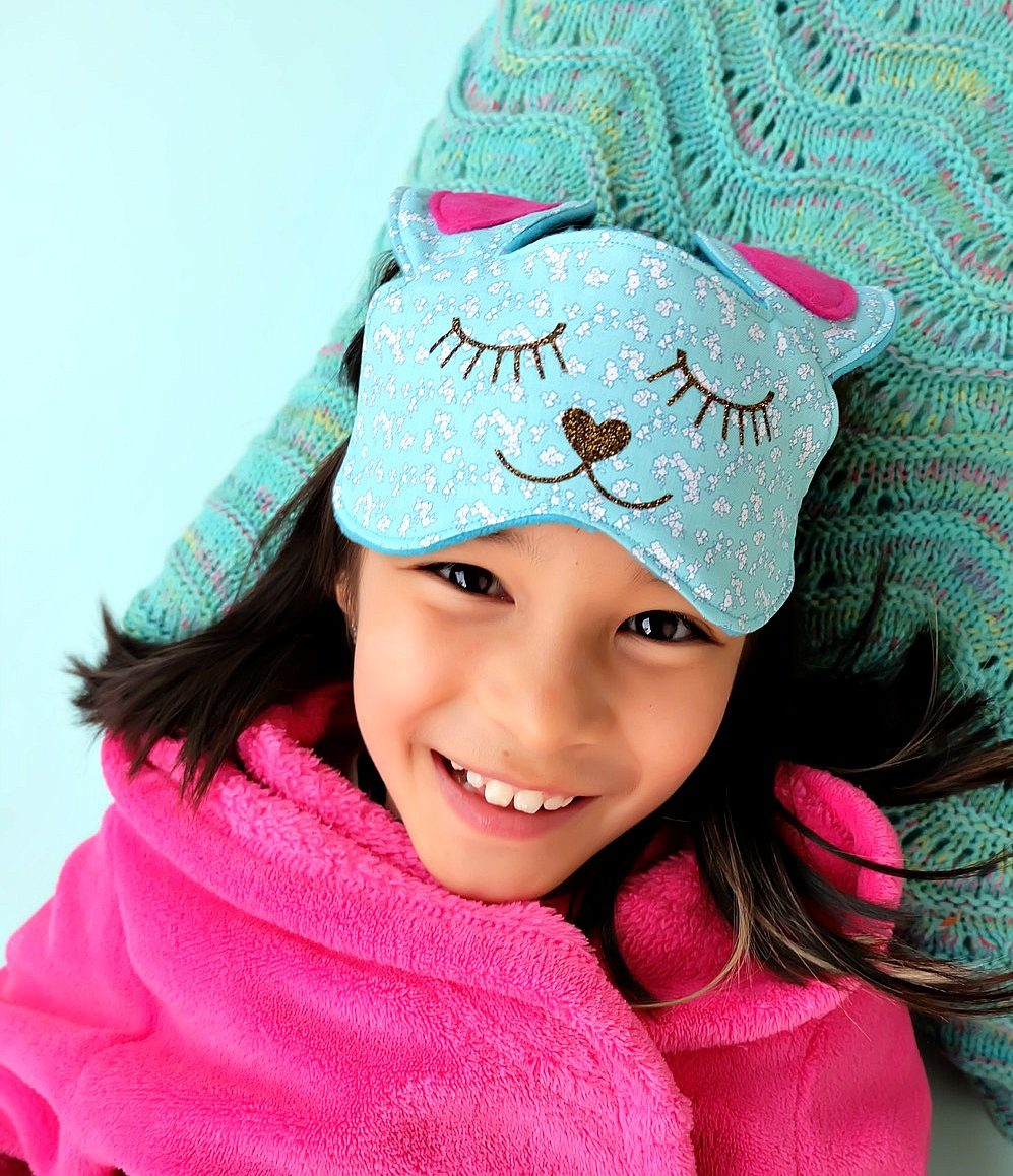 This 30 Minute Bunny Sleep Mask Sewing Tutorial is just about as cute as can be! Its easy to make and would make an adorable handmade gift idea for teens or tweens and would be perfect for birthday party or slumber party favors! Free cut file provided using the Cricut Maker or Cricut Explore. I have to make this Cricut project next! Step by step photos and instructions! #sponsored #CricutMade #CricutMaker
