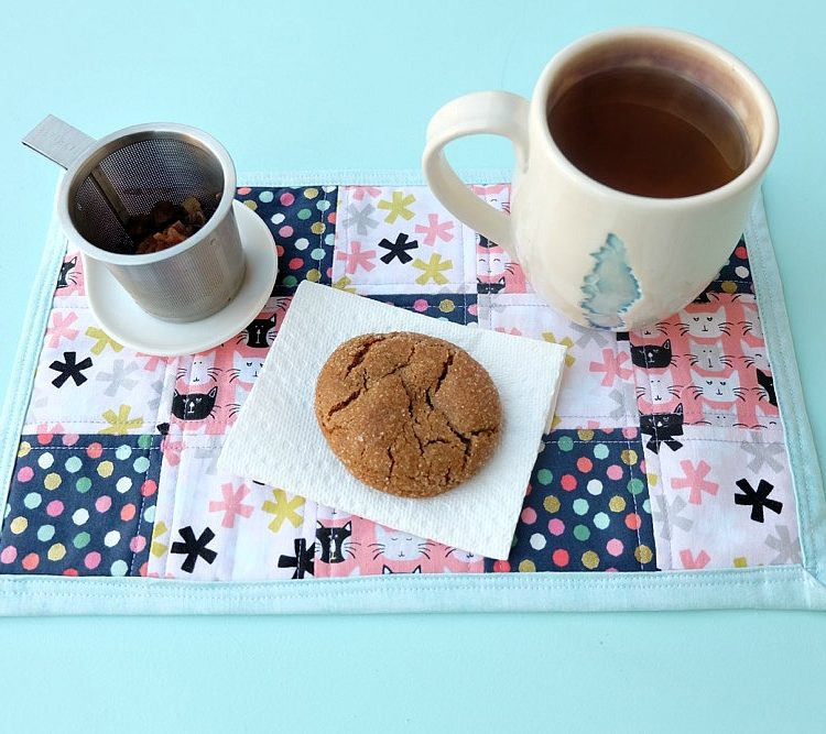 How To Sew A Fabric Scrap Mug Rug Tutorial