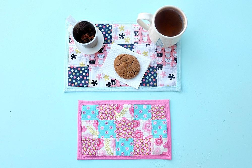 How To Sew A Fabric Scrap Mug Rug Tutorial Hello