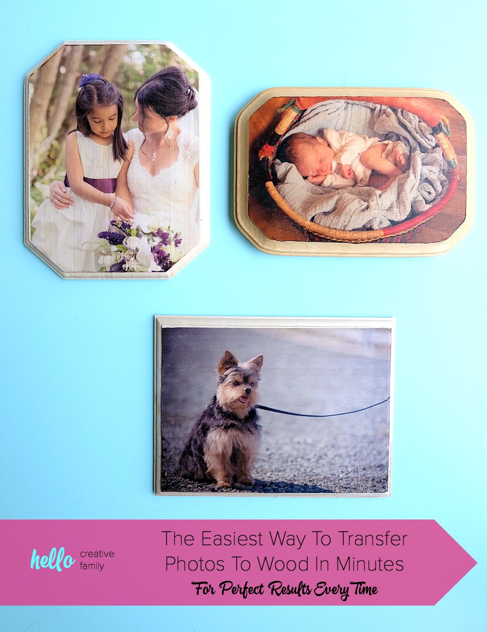50 Easy Handmade Gift Ideas You'll Love:Easy Photo To Wood Transfer Tutorial