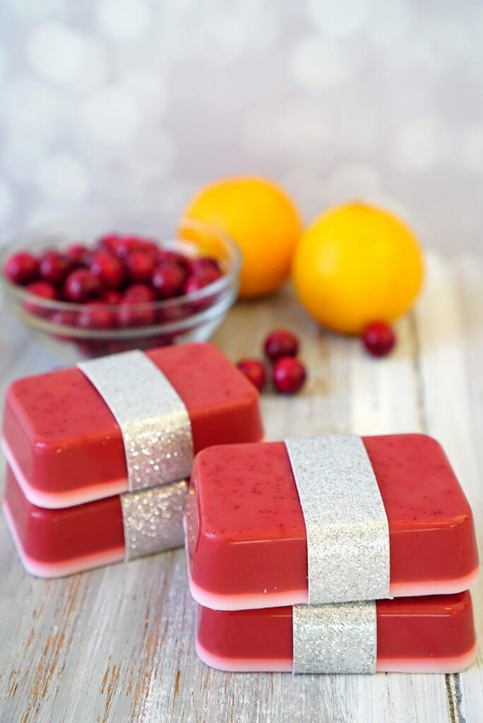 50 Easy Handmade Gift Ideas You'll Love: 10 Minute Orange Cranberry Soap from Happiness is Handmade