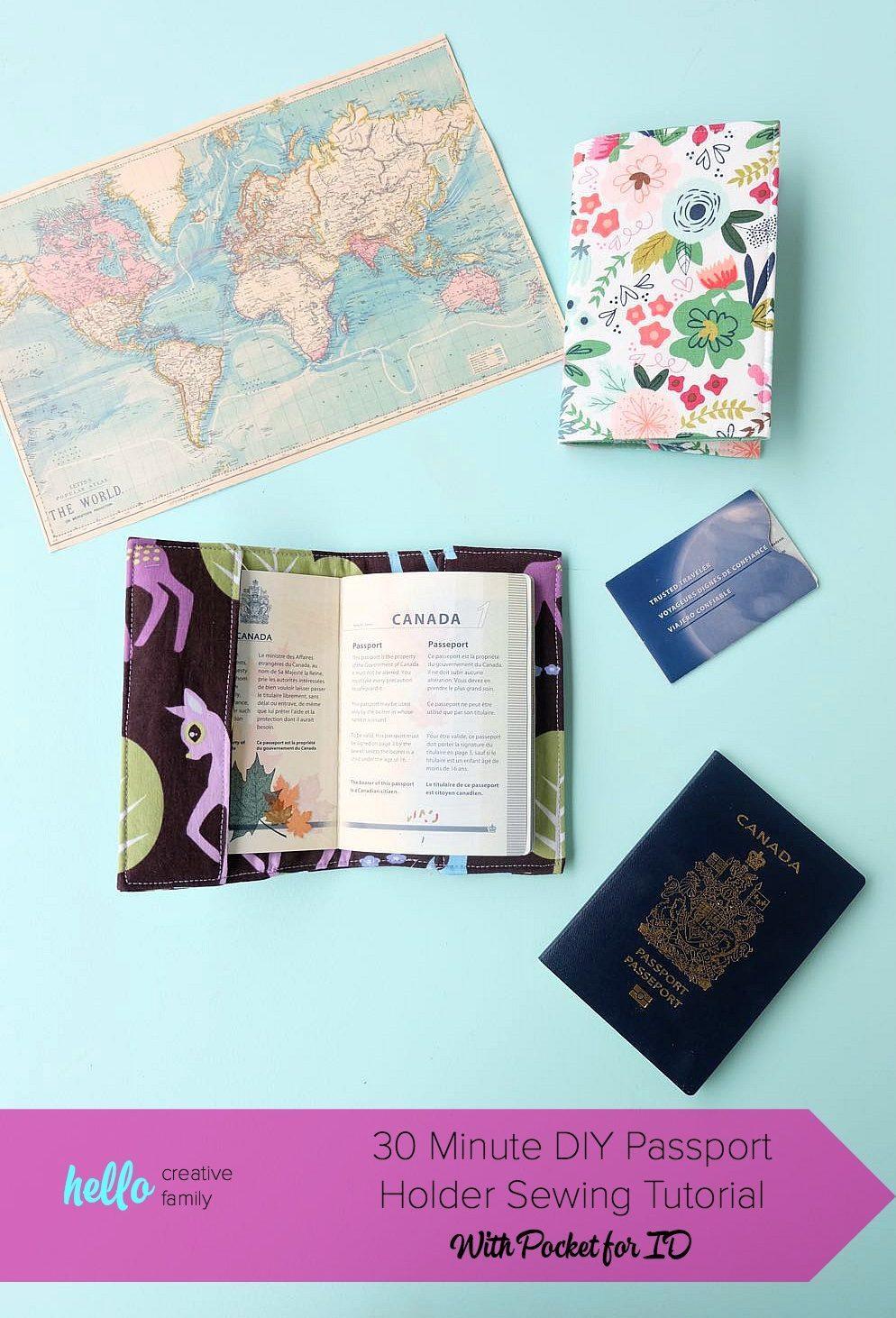 50 Easy Handmade Gift Ideas You'll Love: 30 Minute DIY Passport Holder