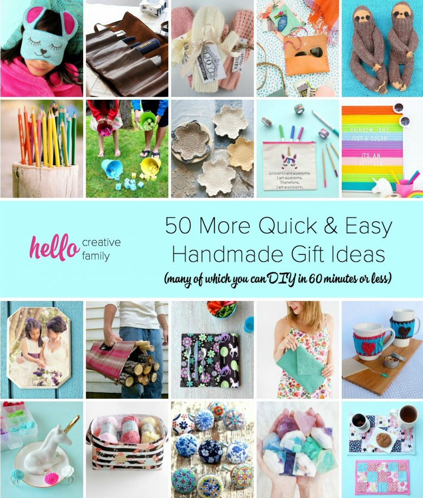 50 more quick and easy handmade gift ideas 1 hour or less for Easy gift ideas