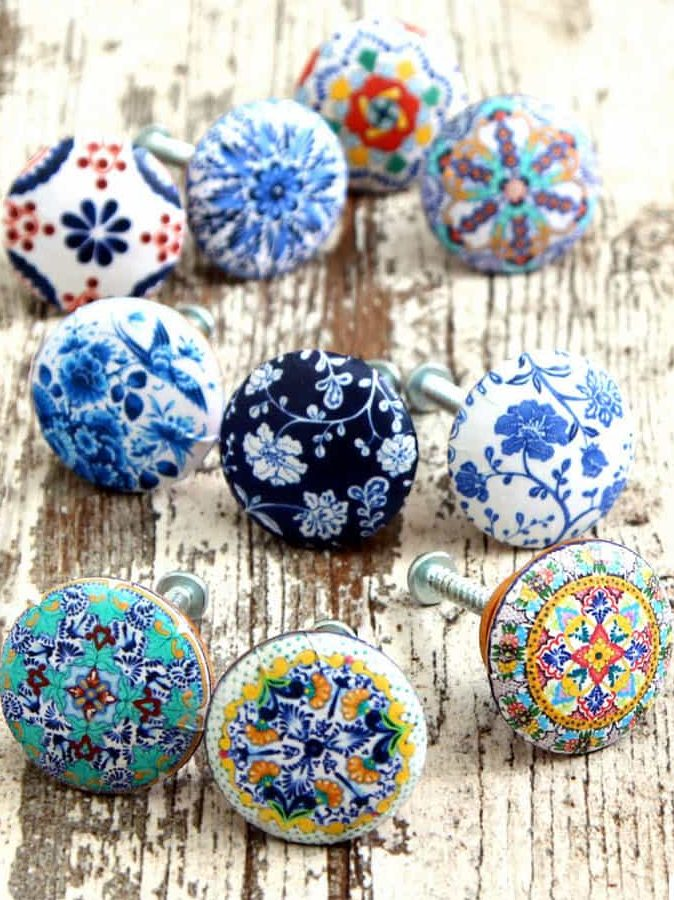 50 Easy Handmade Gift Ideas You'll Love: DIY 5 Minute Designer Drawer Pulls from A Piece of Rainbow