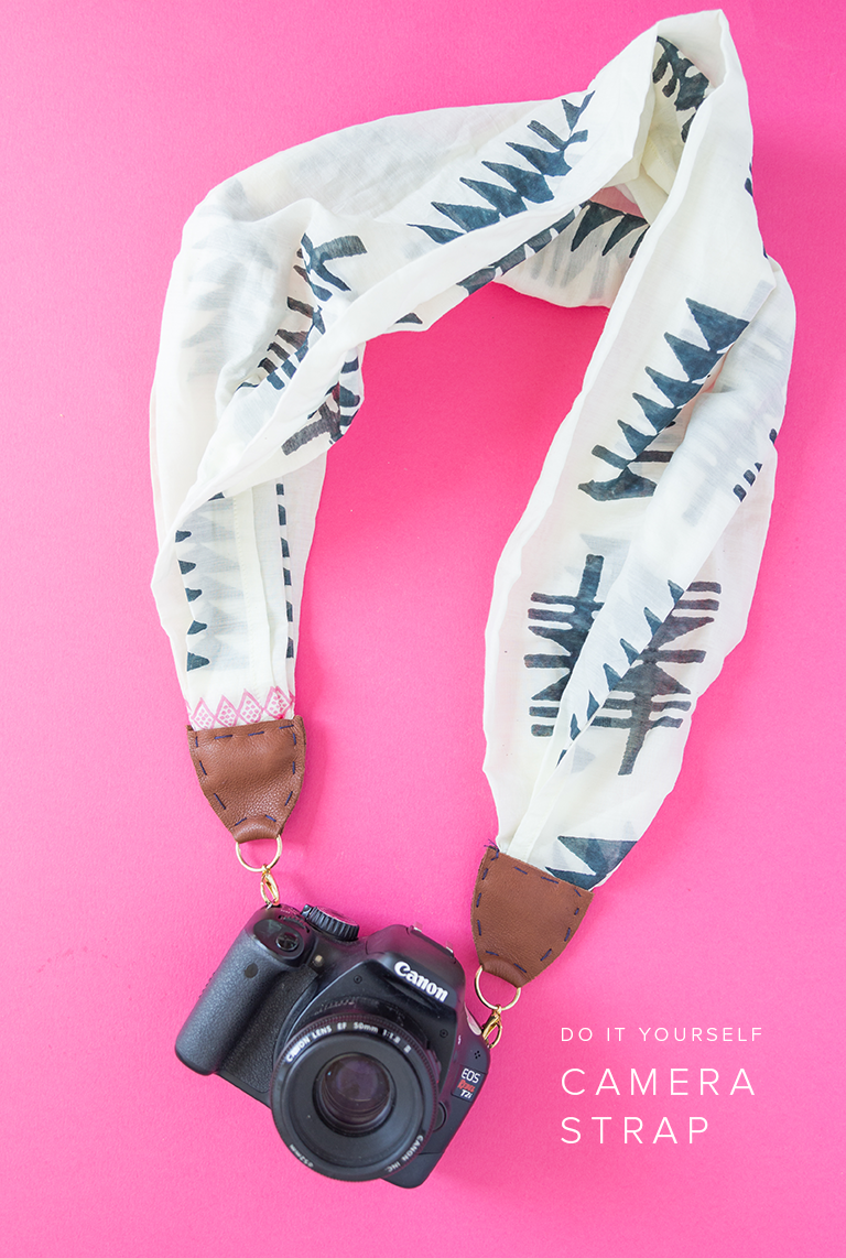 50 Easy Handmade Gift Ideas You'll Love: DIY Camera Strap From a Scarf from House That Lars Built