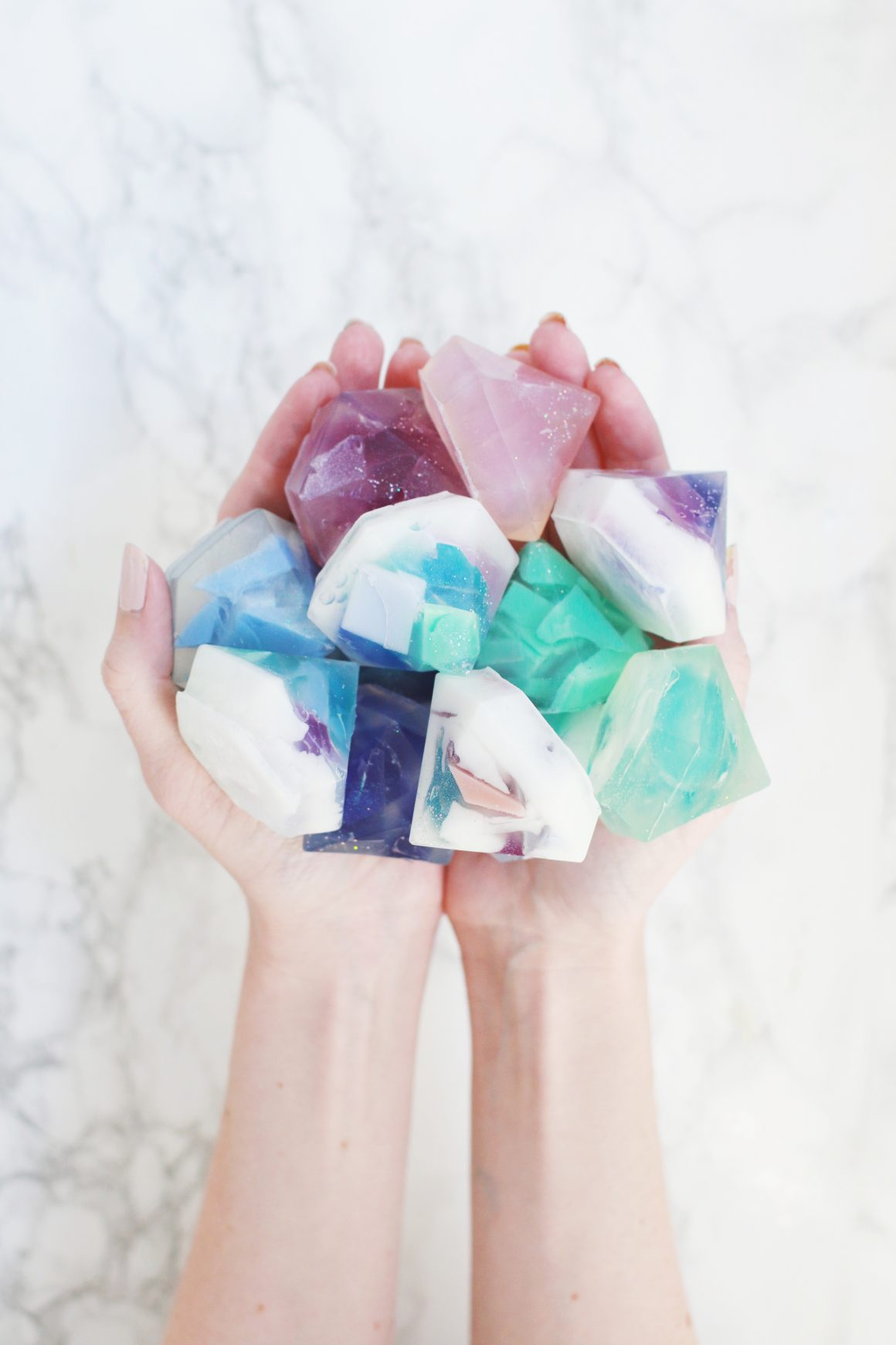 50 Easy Handmade Gift Ideas You'll Love: DIY Gemstone Soap from A Beautiful Mess