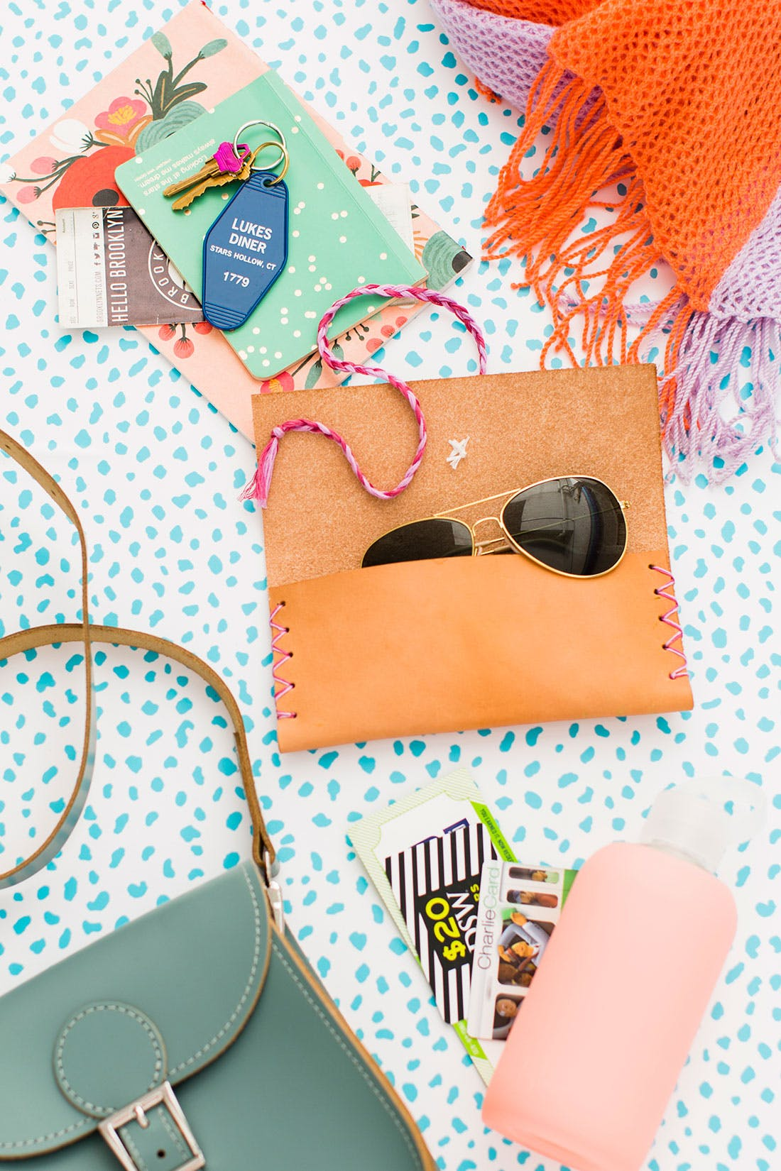 50 Easy Handmade Gift Ideas You'll Love: DIY Leather Sunglass Case from Brit & Co
